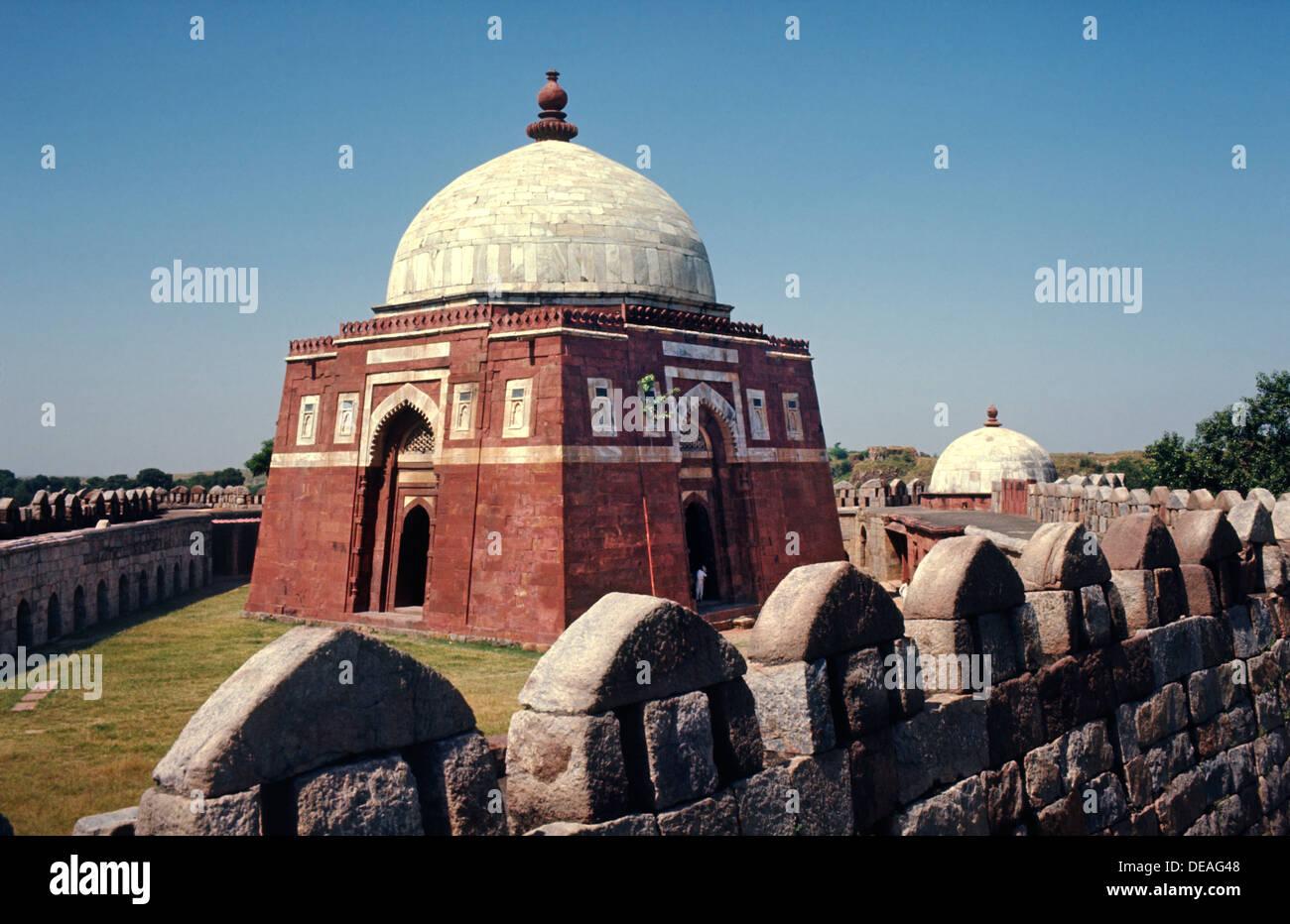 Ghiyath al-Din Tughlaq's Tomb Delhi India - Stock Image