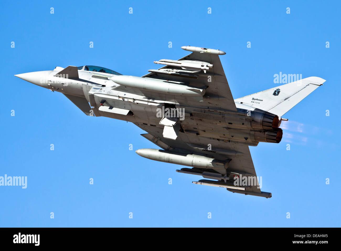 Italian Air force Eurofighter Typhoon in flight - Stock Image