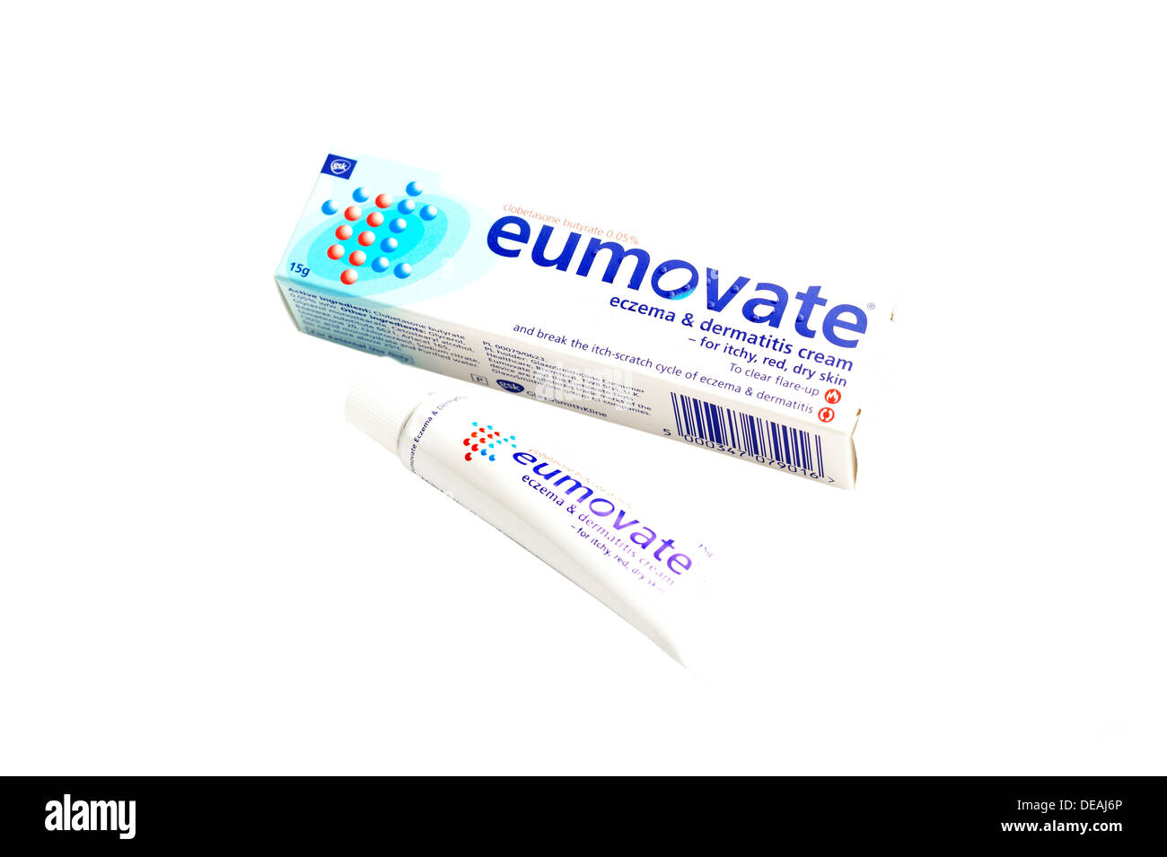 Eumovate Eczema & Dermatitis cream (clobetasone butyrate) steroid cream Stock Photo