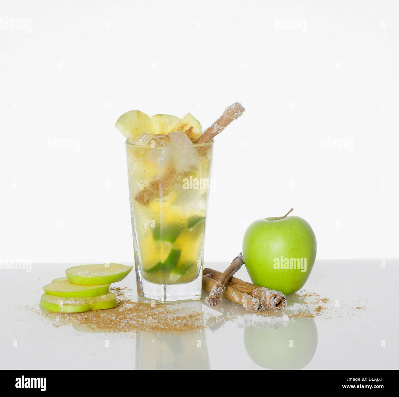 Green Apple cocktail - Stock Image