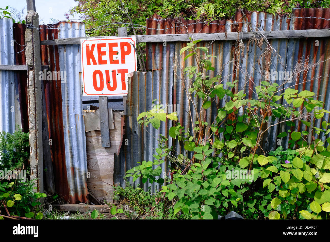 Keep Out warning sign, Essex, UK - Stock Image