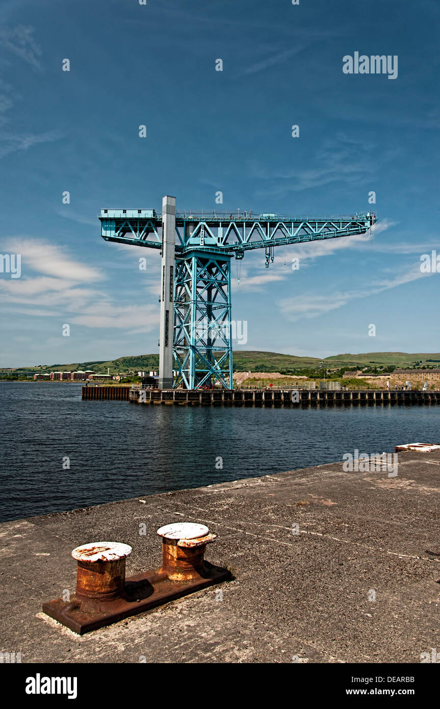 The Titan crane situated at the old John Brown's shipyard site in Clydebank, Scotland - Stock Image