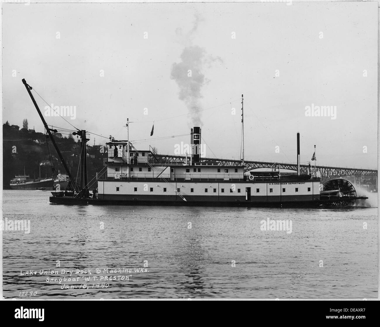 Snagboat W.T. PRESTON at Lake Union Dry Dock 298847 - Stock Image