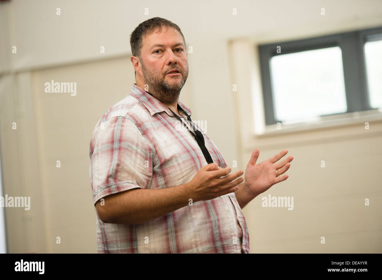 Huw Marshall, Digital content development officer, S4C broadcast television channel, Wales UK - Stock Image