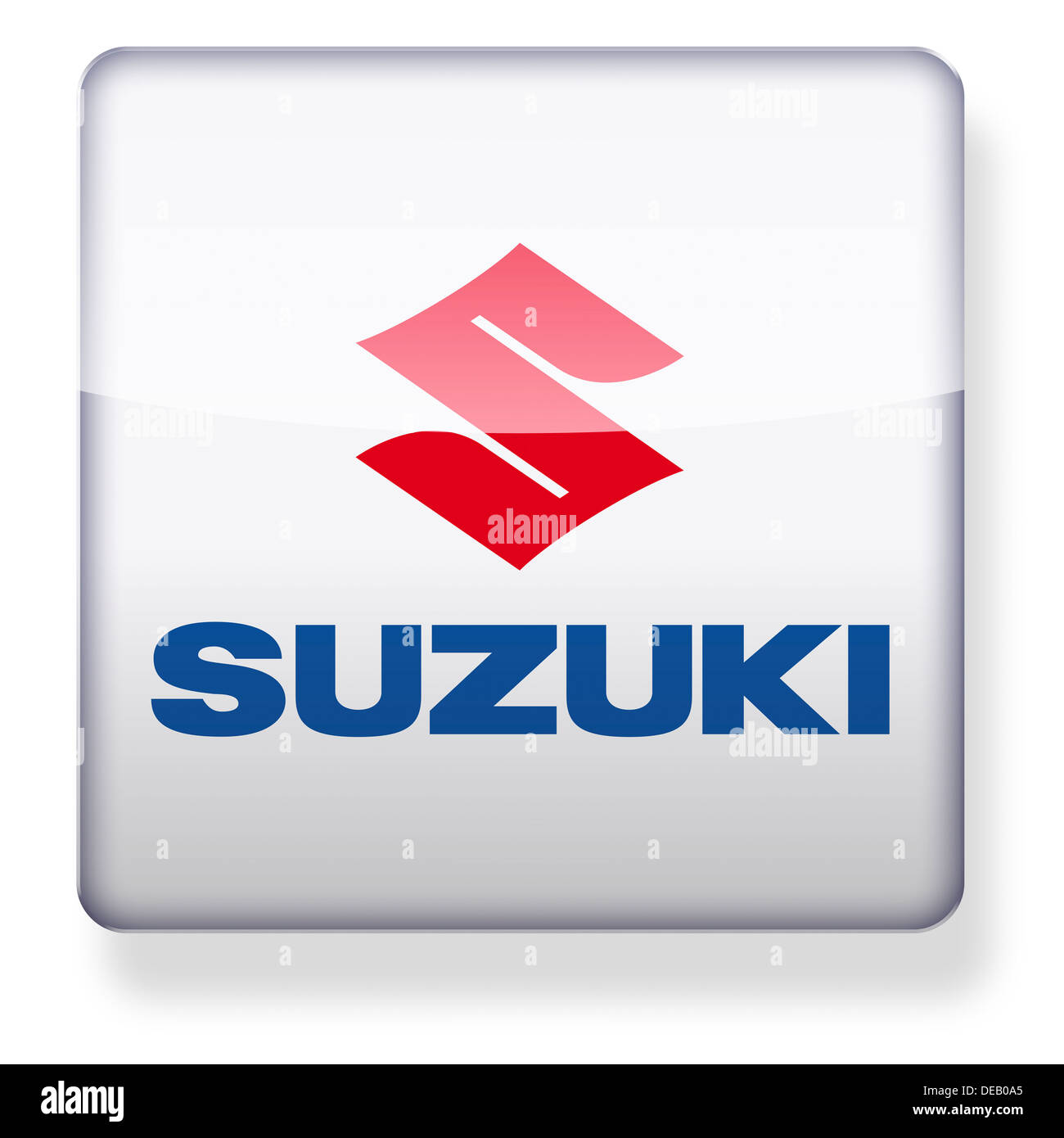 Suzuki logo as an app icon. Clipping path included Stock Photo ...