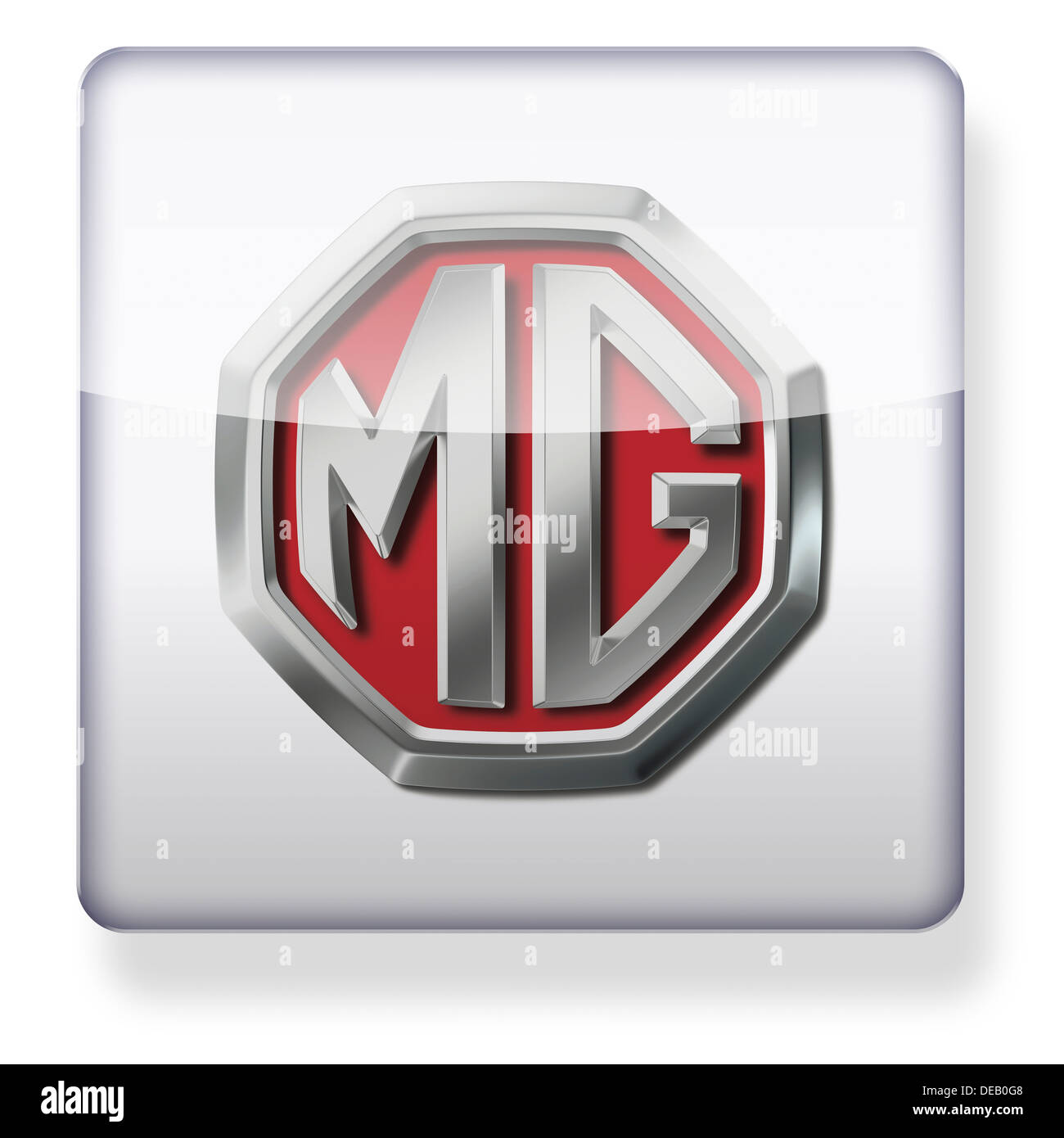MG car logo as an app icon. Clipping path included. - Stock Image