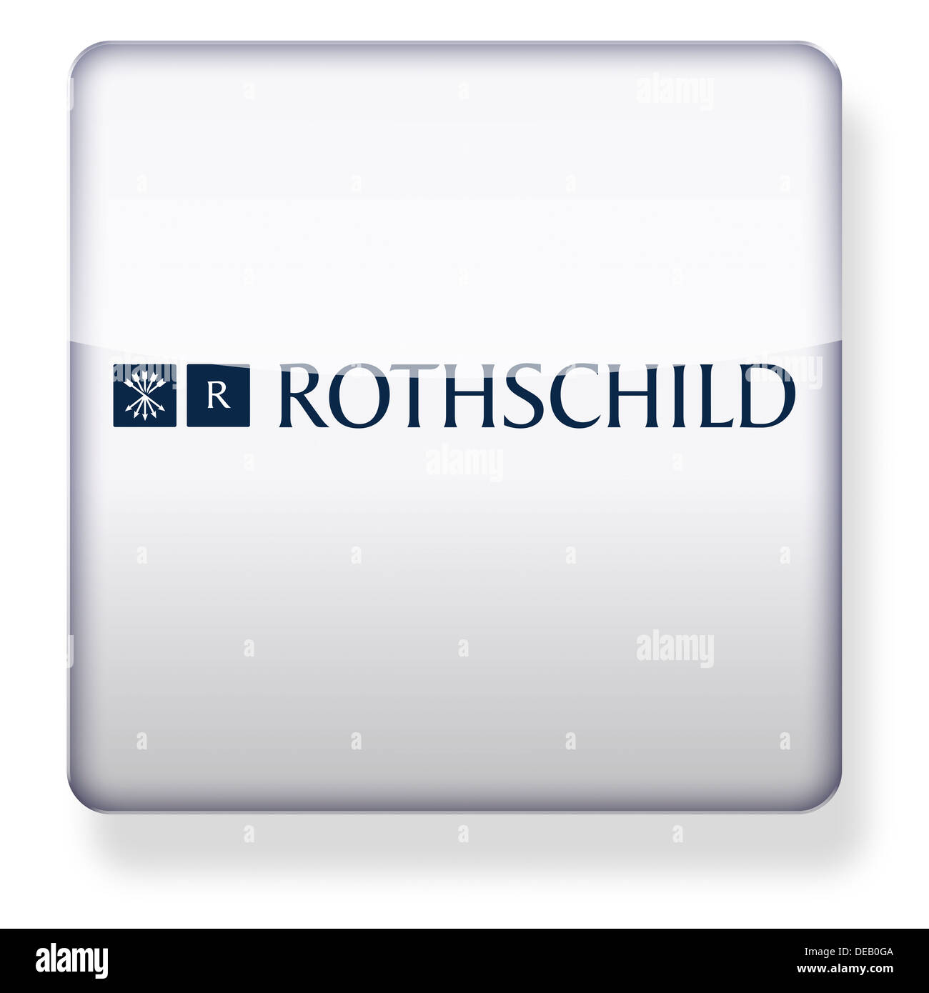 Rothschild Group logo as an app icon. Clipping path included. - Stock Image