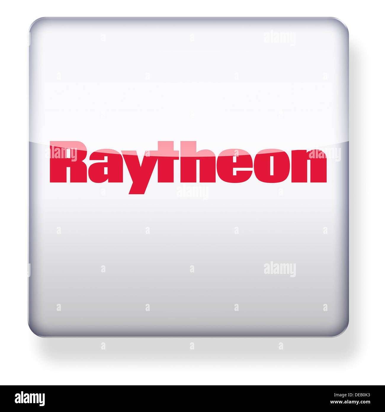 Raytheon logo as an app icon. Clipping path included. - Stock Image