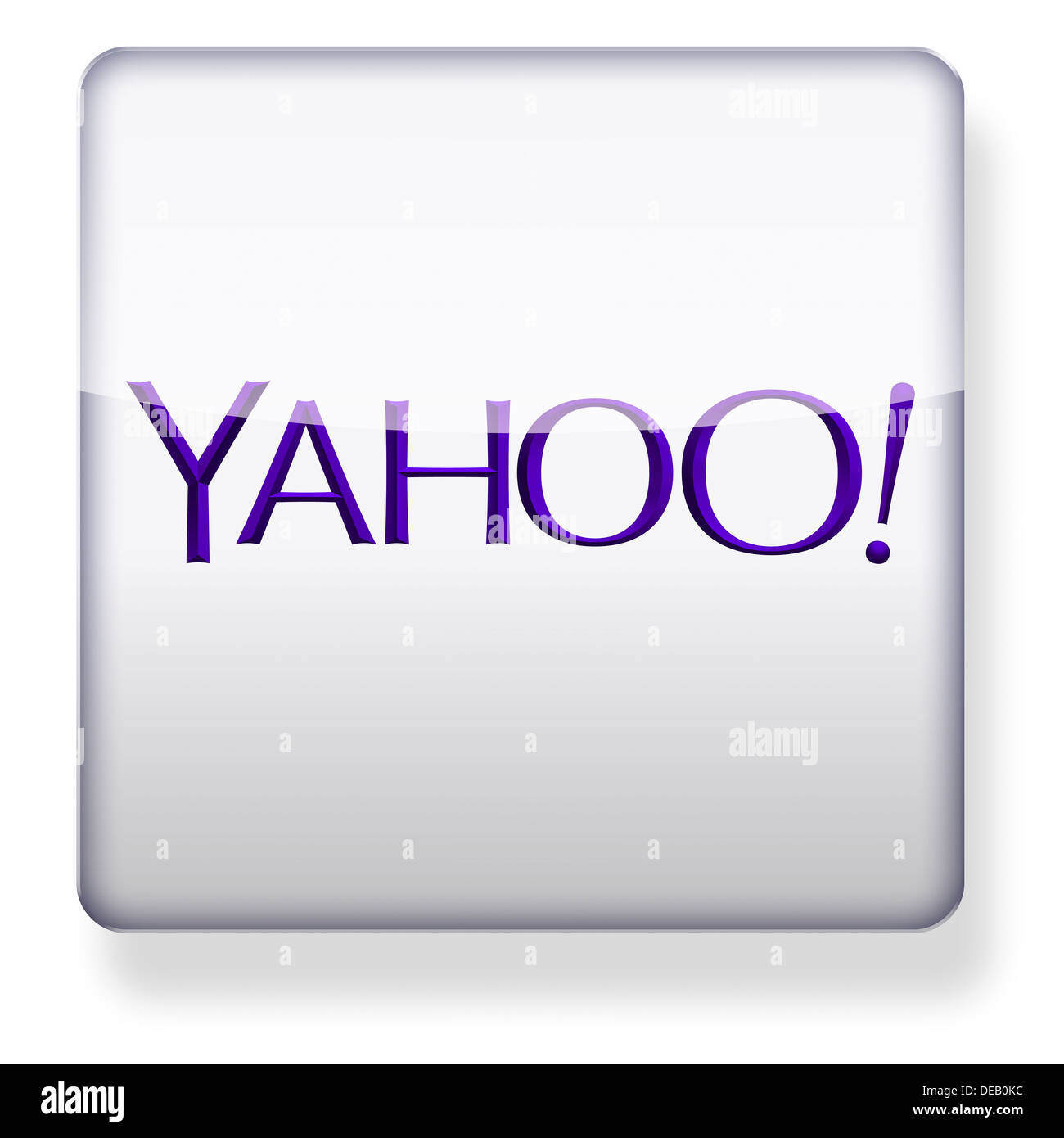 NEW Yahoo logo as an app icon. Clipping path included. - Stock Image