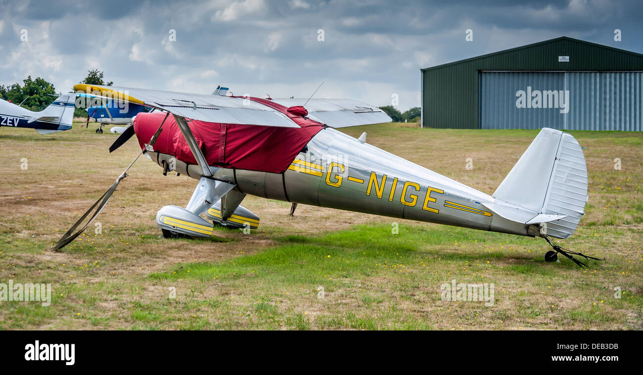 private aircraft parked up - Stock Image