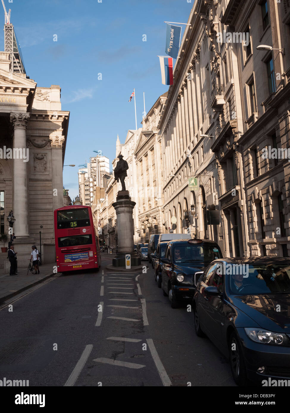 Cornhill City of London street in financial district - Stock Image