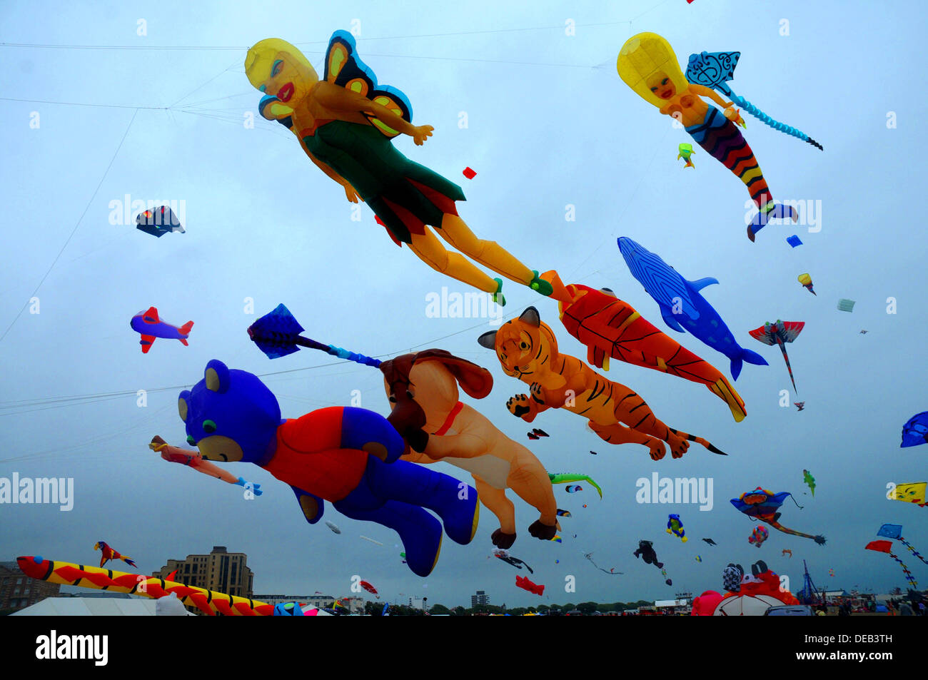 THE ANNUAL KITE FESTIVAL AT SOUTHSEA, HAMPSHIRE AUGUST 2013 - Stock Image