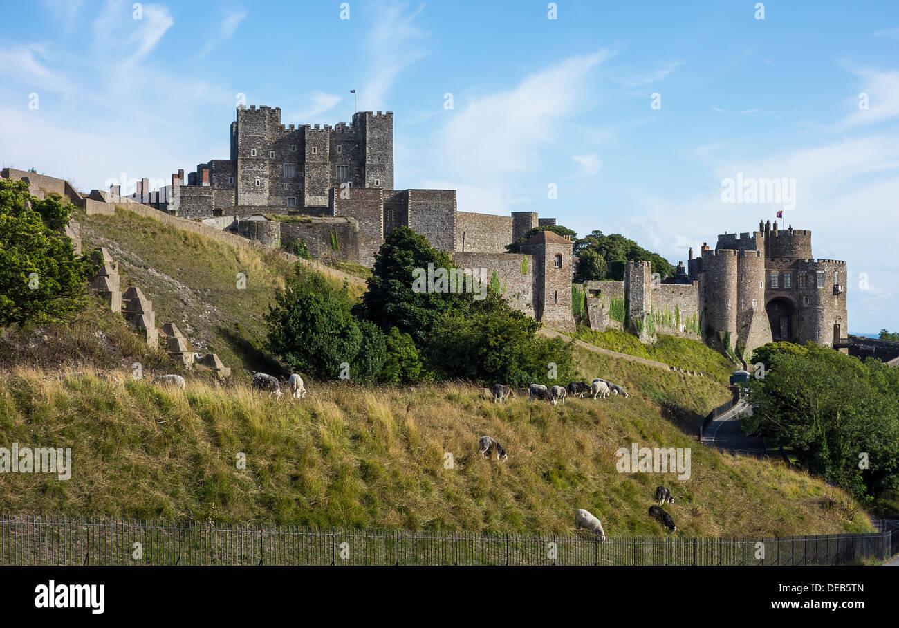 Dover Castle English Heritage Kent UK - Stock Image