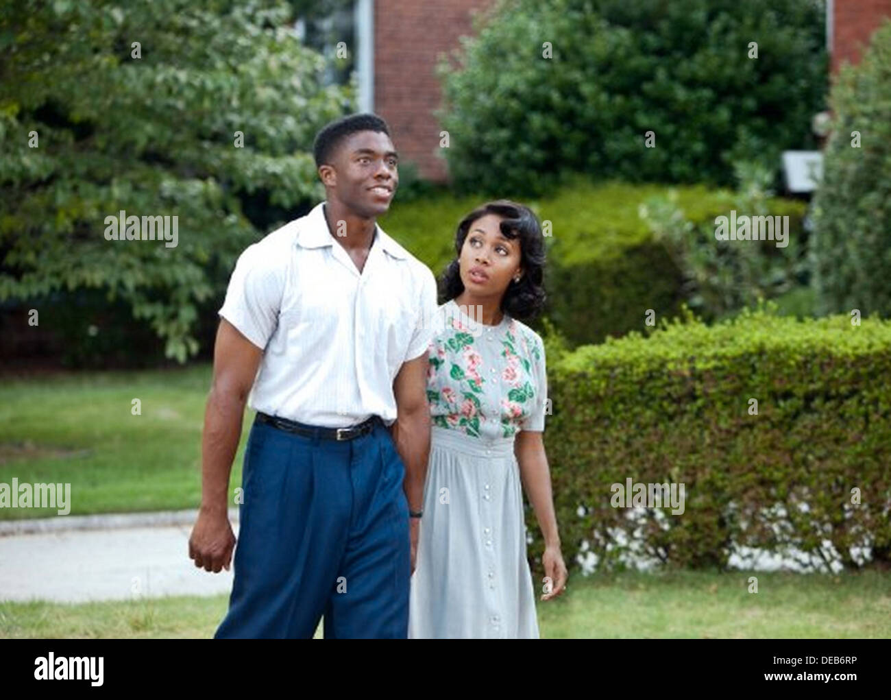 42  2013 Warner Bros film with Chadwick Boseman and Nicole Beharie - Stock Image