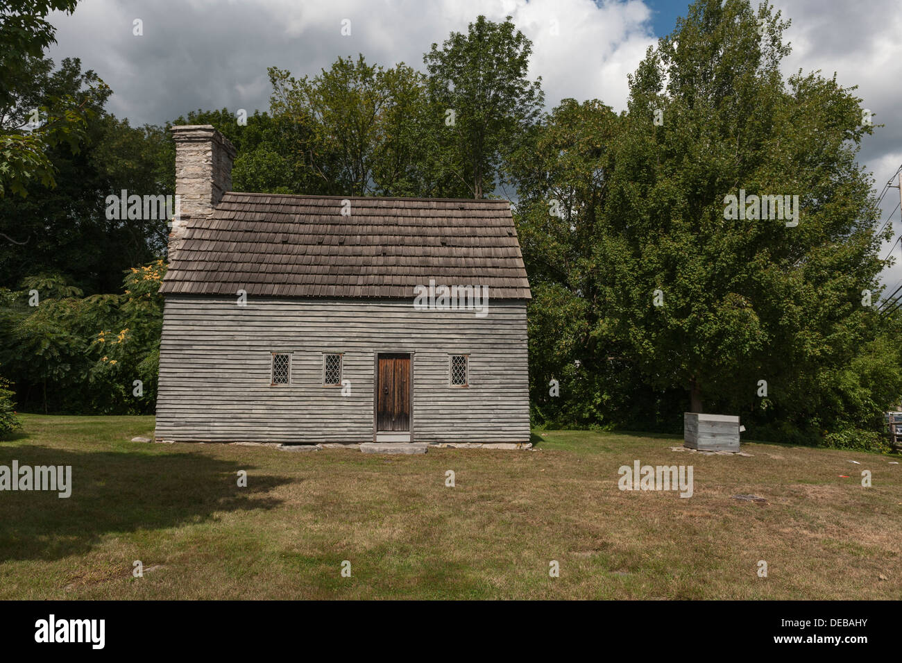 Built by Richard Clemence in 1691, Clemence-Irons House is a rare surviving example of a 'stone-ender ' . - Stock Image