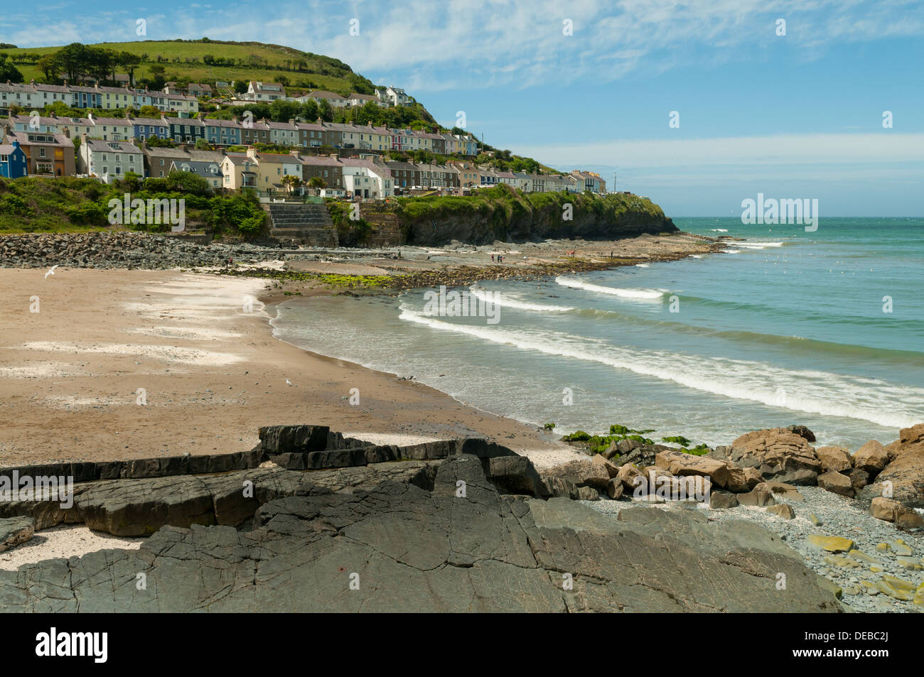Beach at New Quay, Ceredigion, Wales - Stock Image