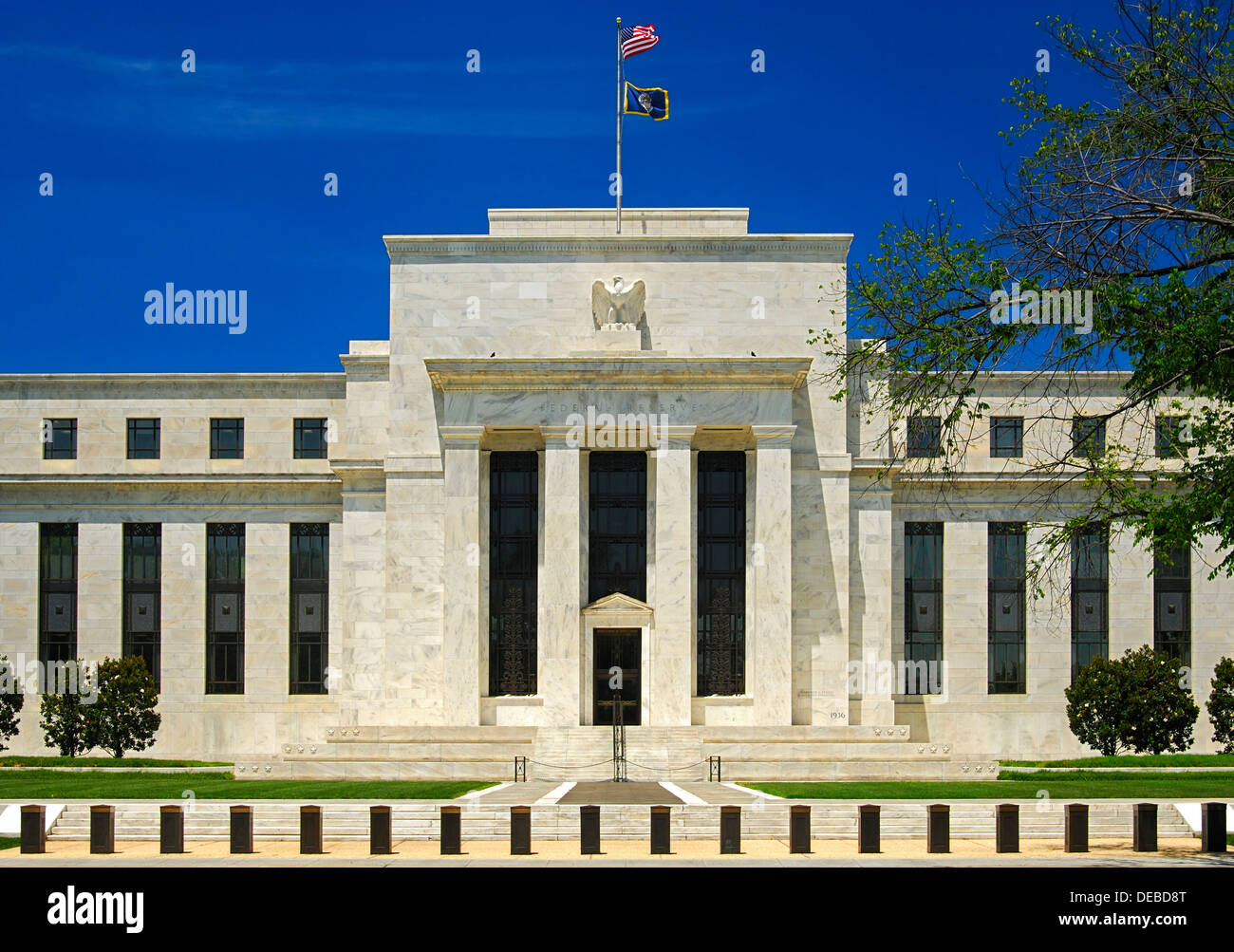 Marriner S. Eccles Federal Reserve Board Building, Headquarters of the United States Federeal Reserve, Washington, - Stock Image