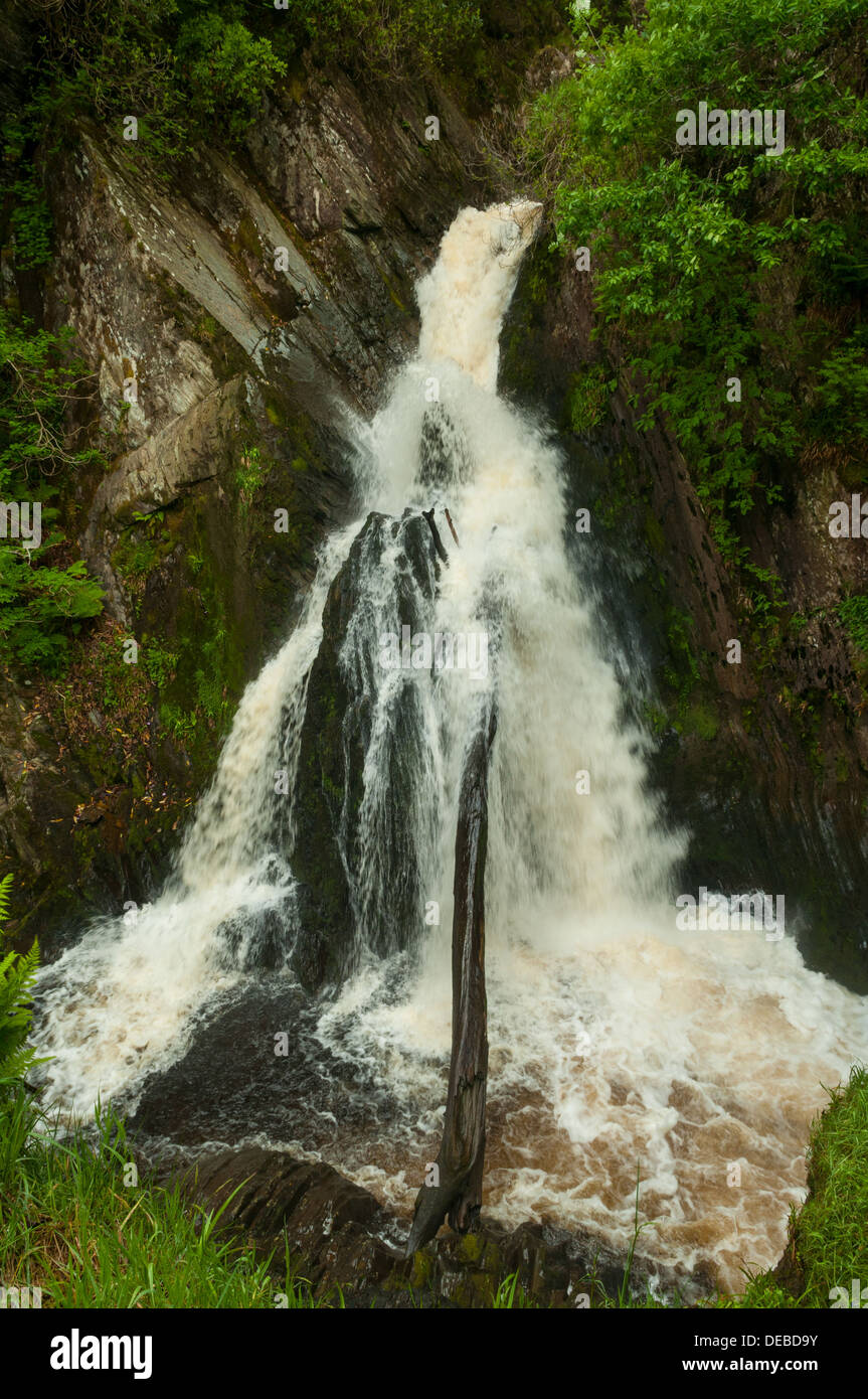 Mynach Falls, Devil's Bridge, Ceredigion, Wales - Stock Image