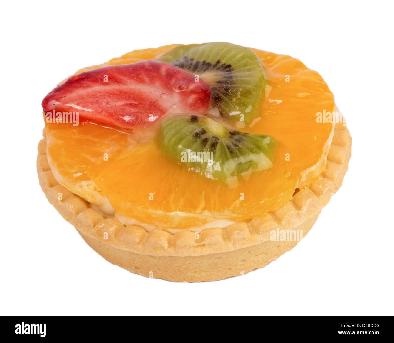 Tart with orange, kiwi and strawberry - Stock Image