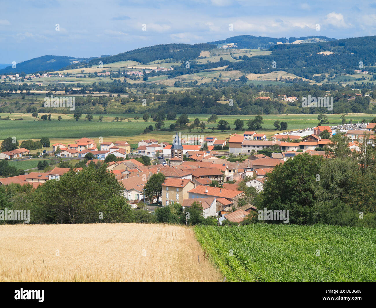 The town of Siaugues-St-Romain in the commune of Siaugues-Ste-Marie, Haute-Loire, Auvergne, France - Stock Image