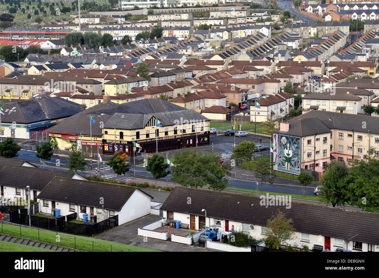 The nationalist Bogside, Derry, Londonderry, Northern Ireland,UK - Stock Image