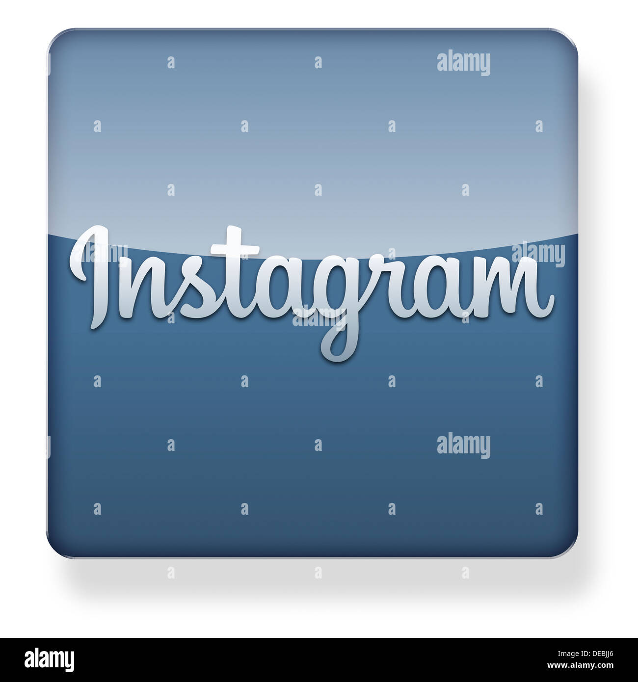 Instagram logo as an app icon. Clipping path included. - Stock Image
