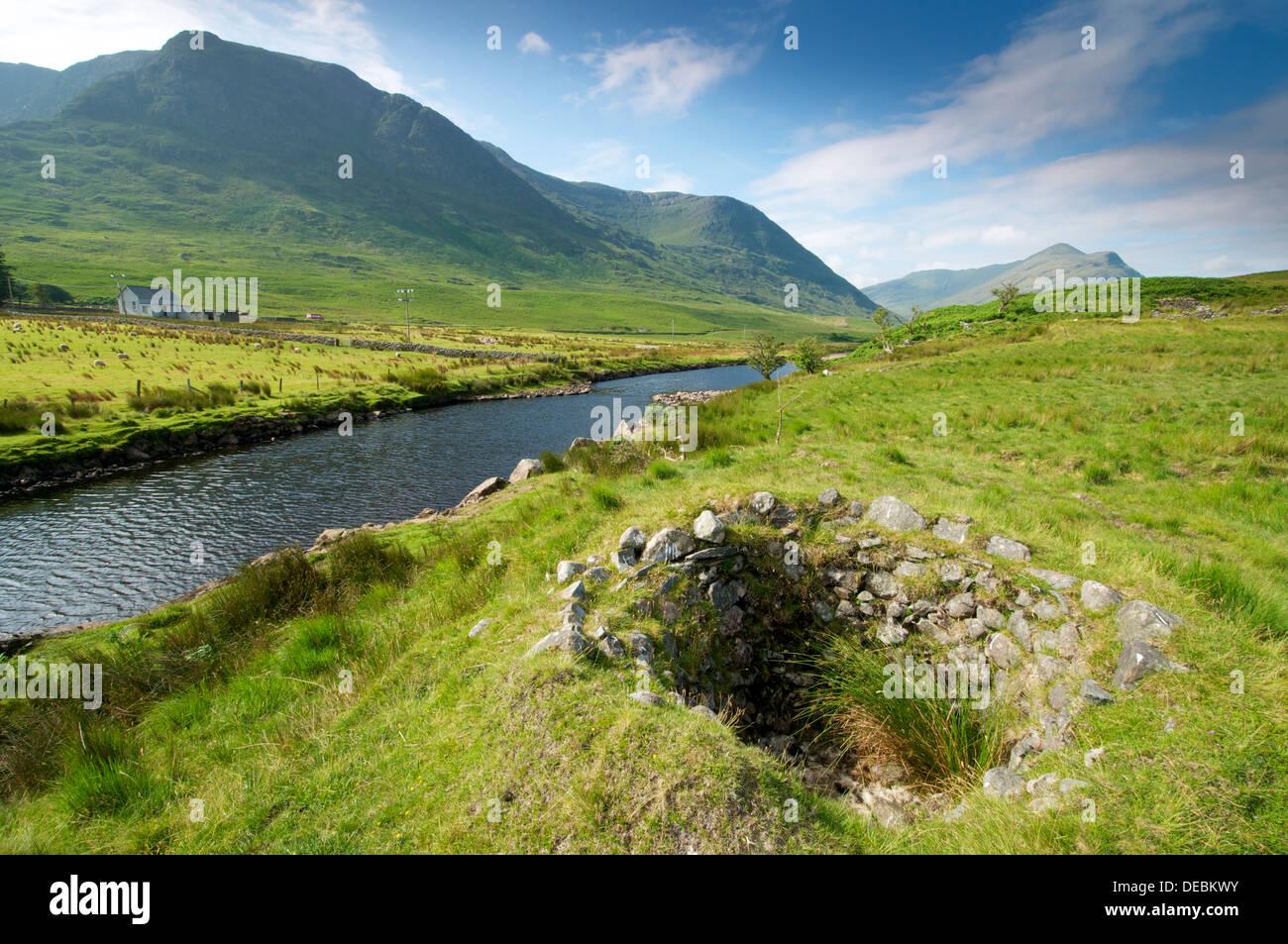 River Erriff valley western Ireland - Stock Image