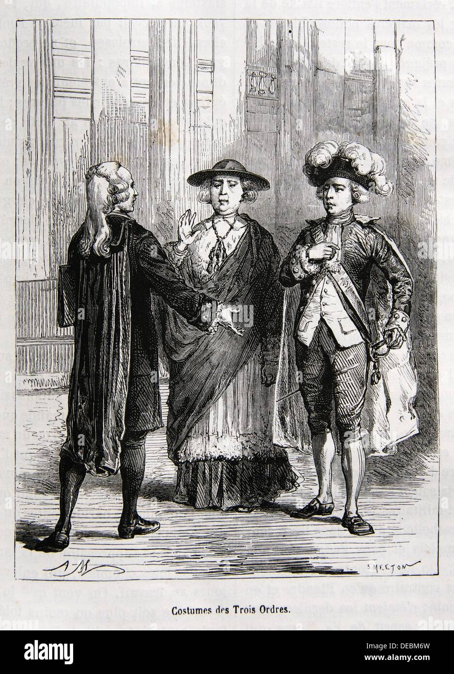 costumes of the three estates in the kingdom of france under the old regime 18th