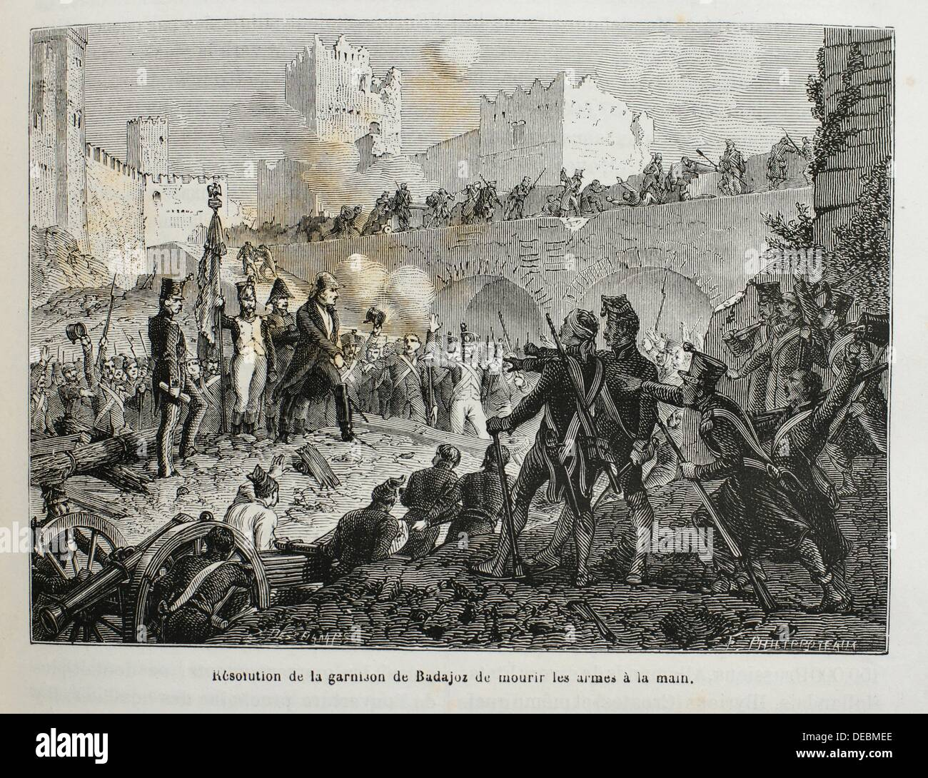 France, Spain-History-19th Century - resolution of the spanish army deciding not to surrender to the Napoleon troops, - Stock Image
