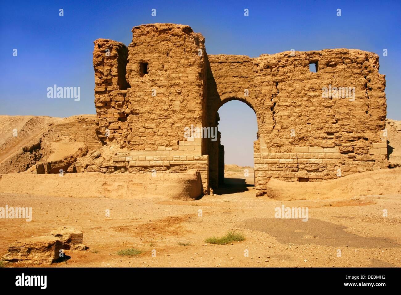 Palmyra Gate (2nd century BC), Dura Europos, Syria - Stock Image