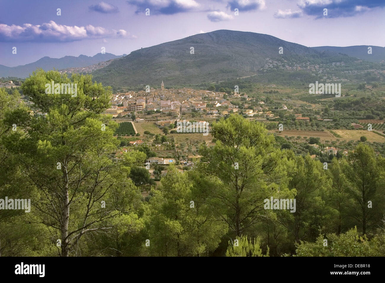 Parcent in the Jalon valley. Alicante province. Spain. - Stock Image