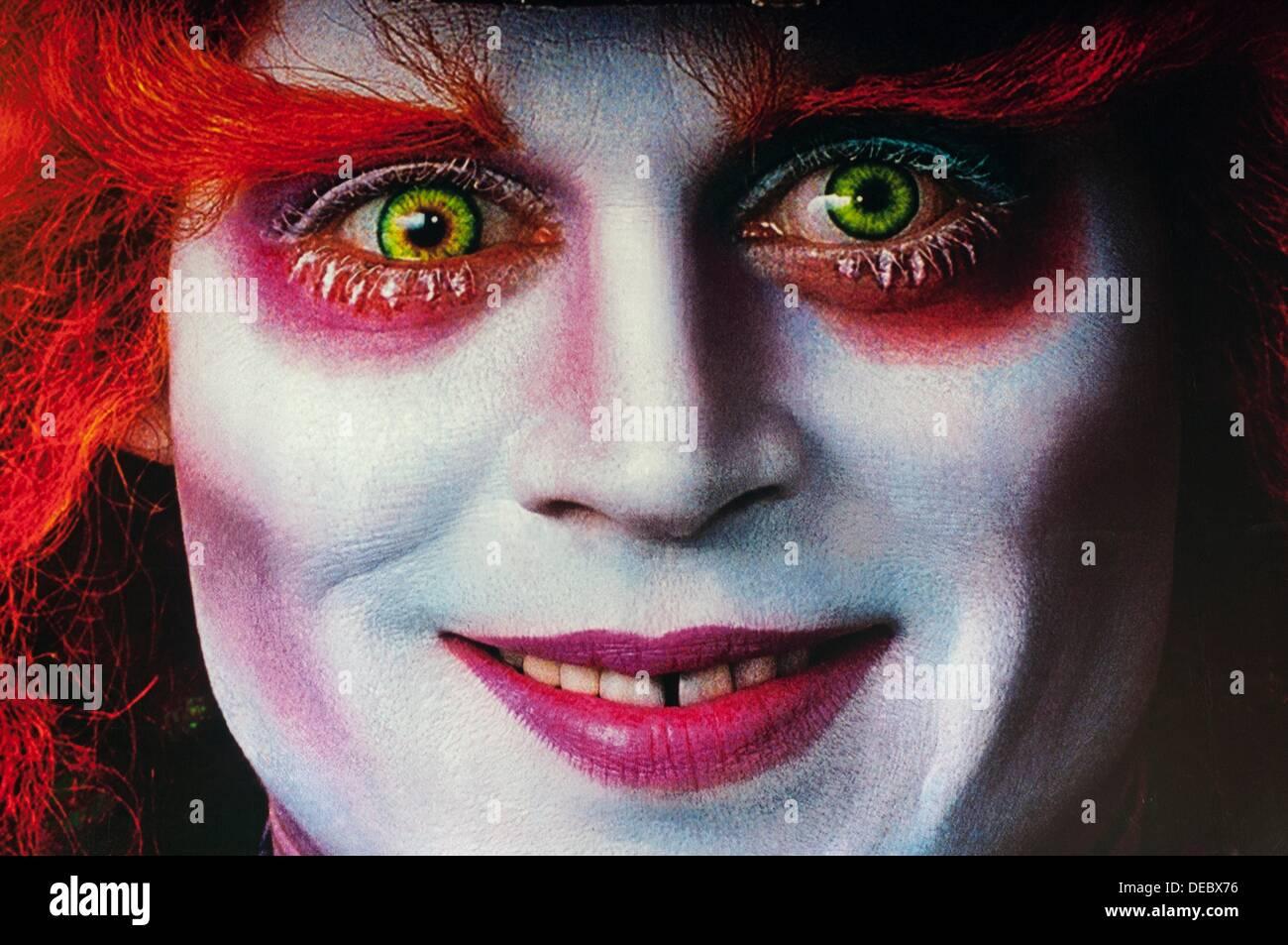 Tim Burton´s Alice In Wonderland Movie billboard detail. London, January 2011 - Stock Image