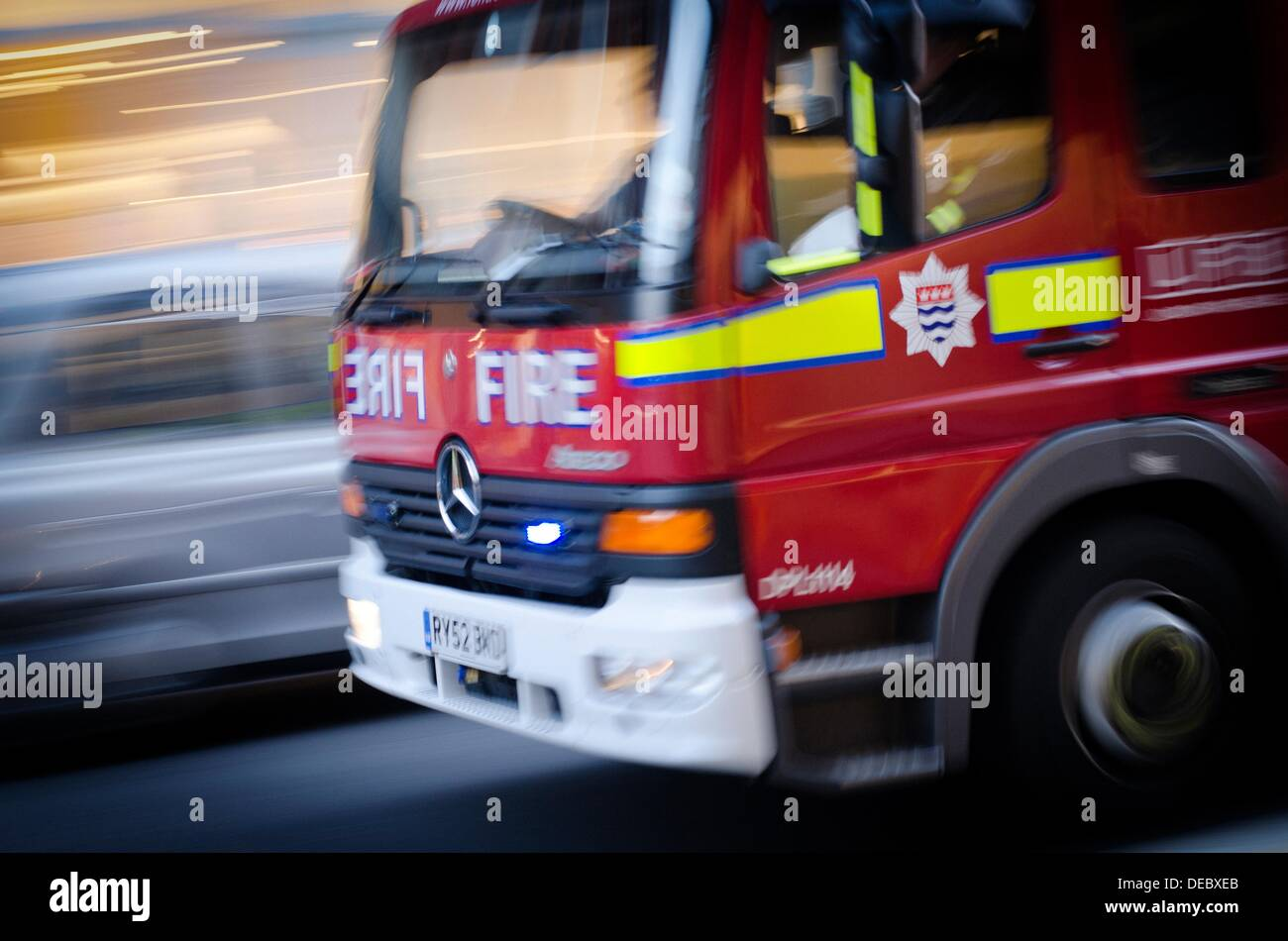 London Fire Brigade, Fire truck, London, England, Uk - Stock Image