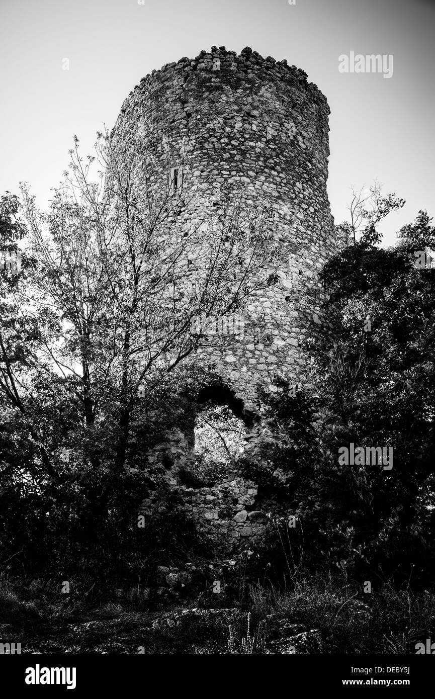 Abruzzo. Ancient tower - Stock Image