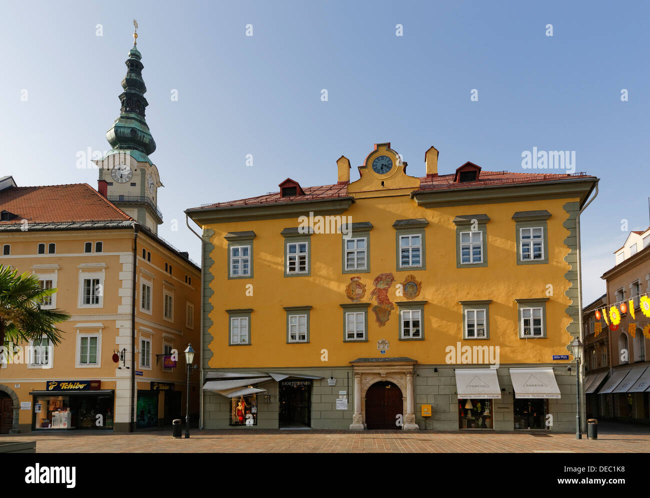 Old Town Hall, Alter Platz square, historic center, Klagenfurt, Carinthia, Austria - Stock Image