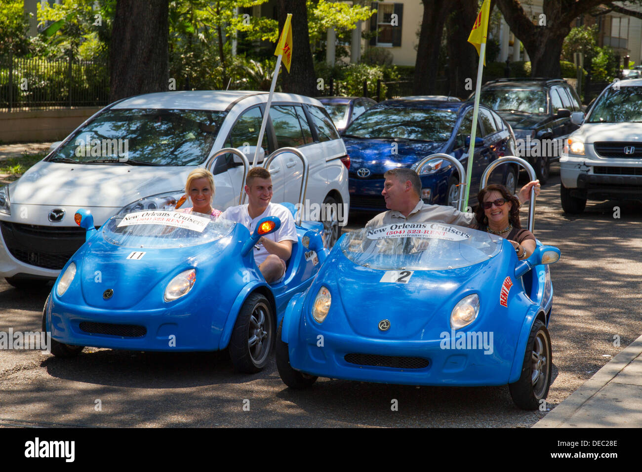 New Orleans cruisers rental buggy, New Orleans, LA, USA - Stock Image