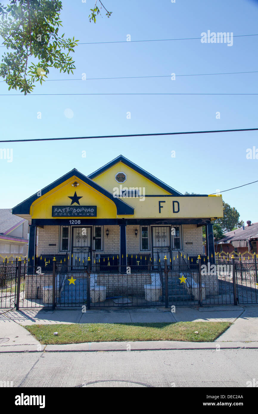 Rock'n'roll legend Fats Domino's (Antoine Dominique Domino) house. New Orleans, LA, USA - Stock Image