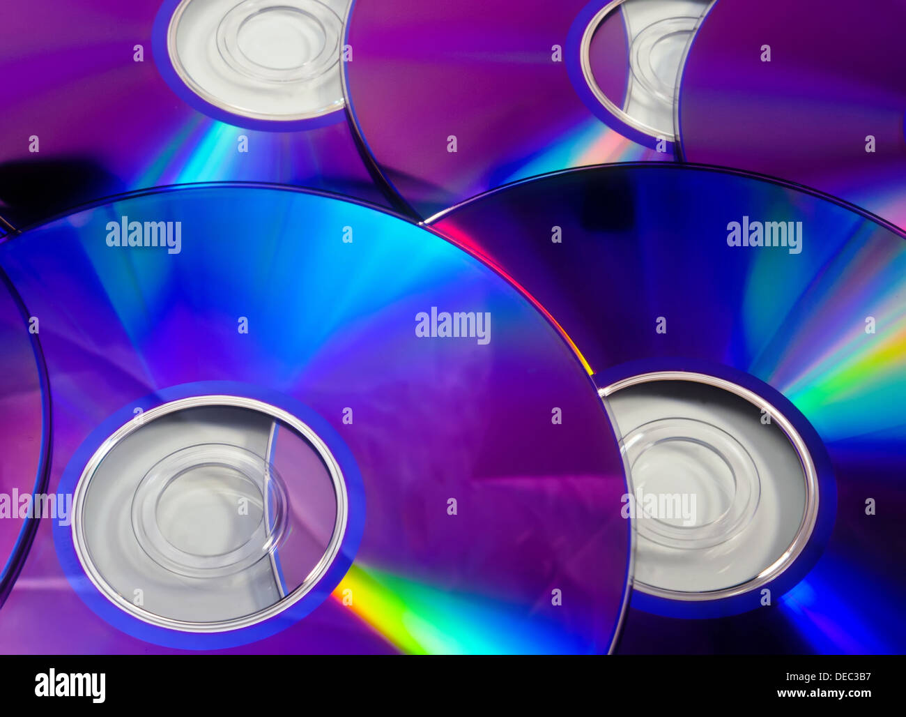 Colorful rainbow background made from DVD disks Stock Photo