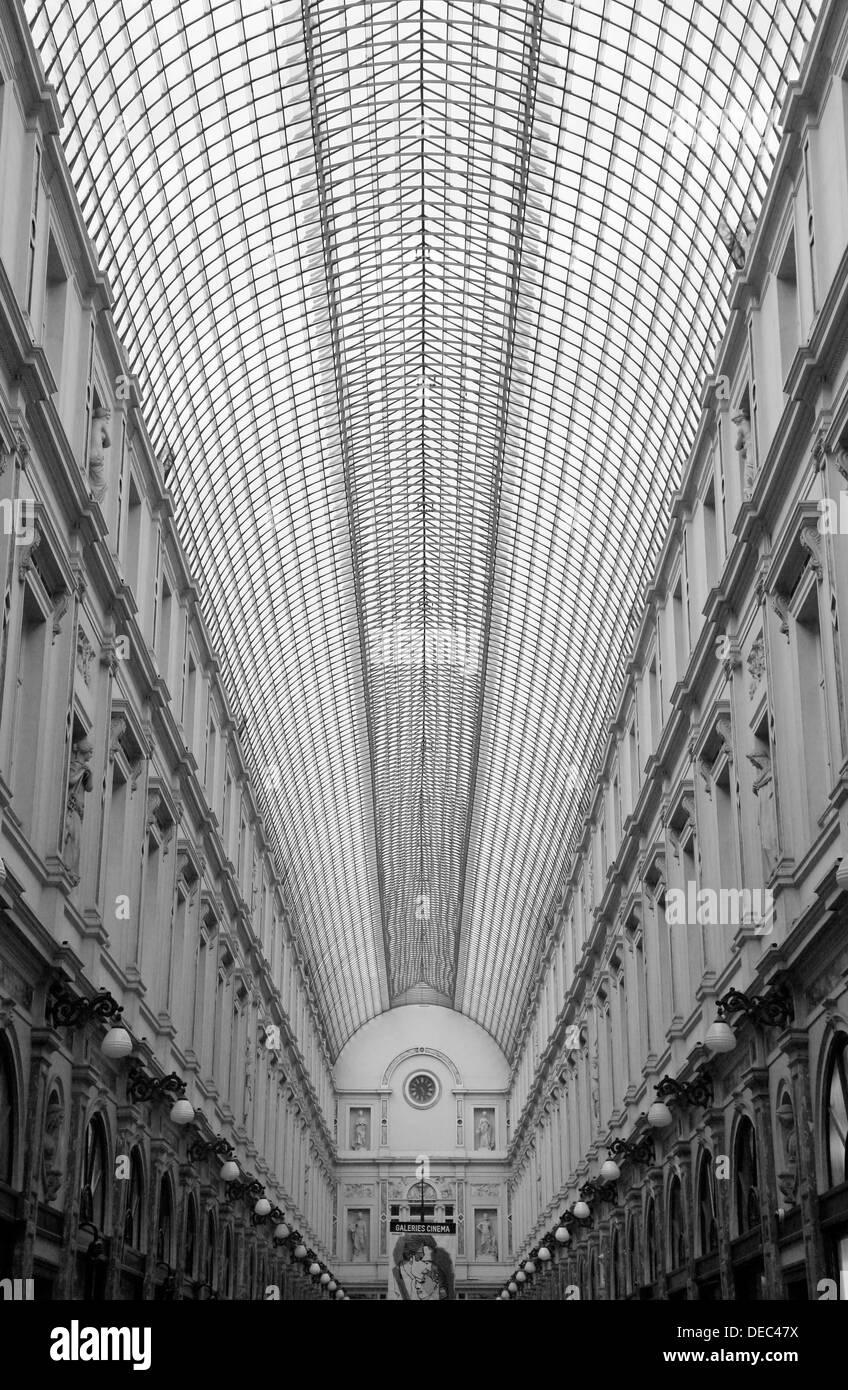 Galeries Royales Saint-Hubert mall, Brussels, Brussels Region, Belgium - Stock Image