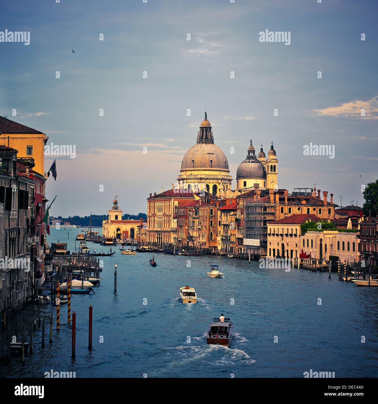 Santa Maria della Salute. View From Academia, Venice, Italy, Europe. - Stock Image