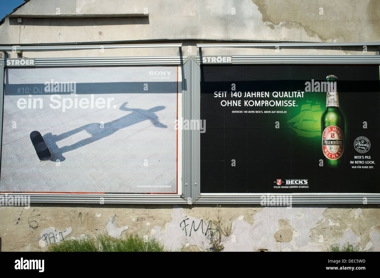 Advertising billboard - Stock Image