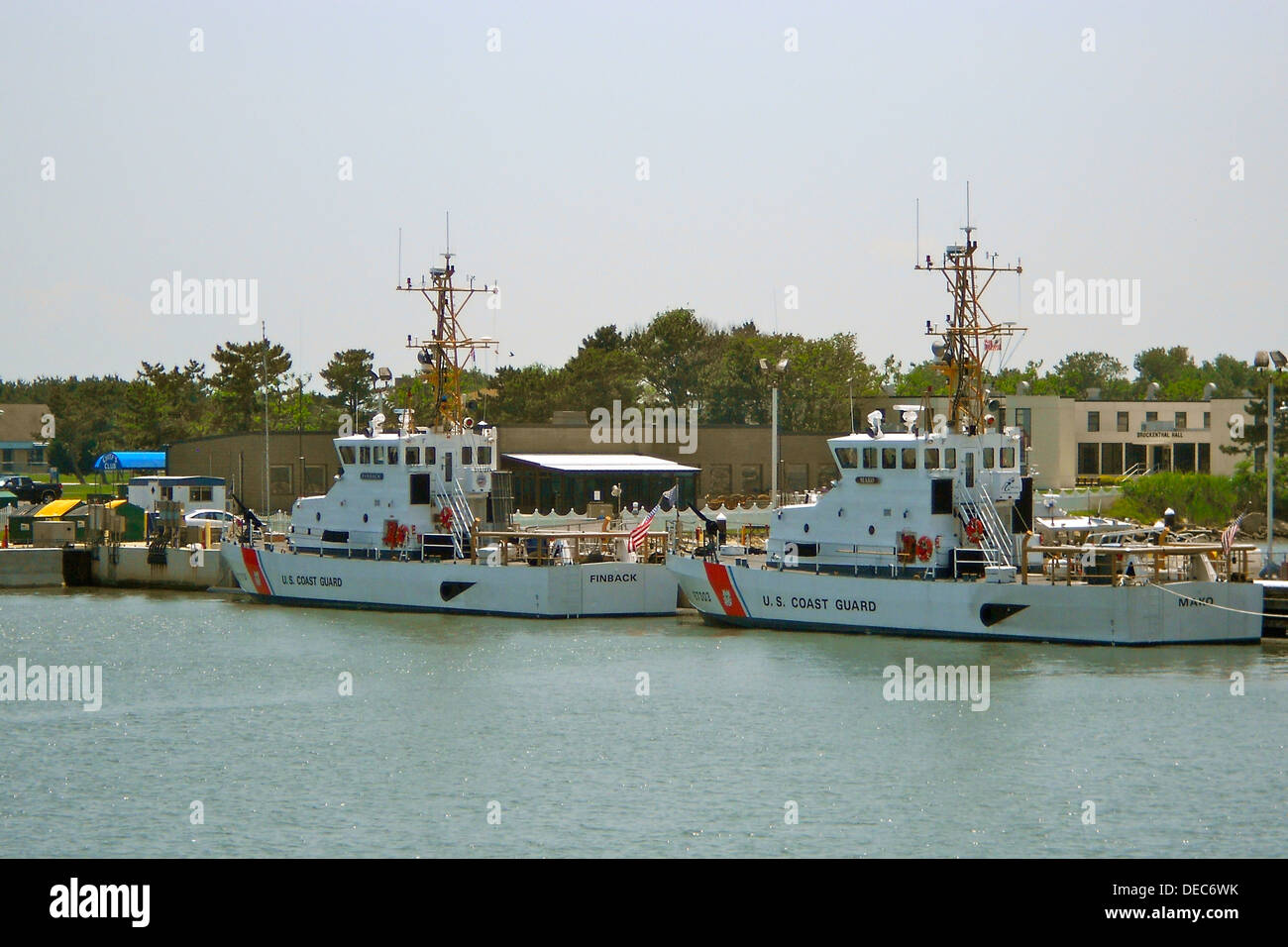 Coast Guard vessels the Finback (left) and the Mako at the Cape May Coast Guard training station in New Jersey. - Stock Image