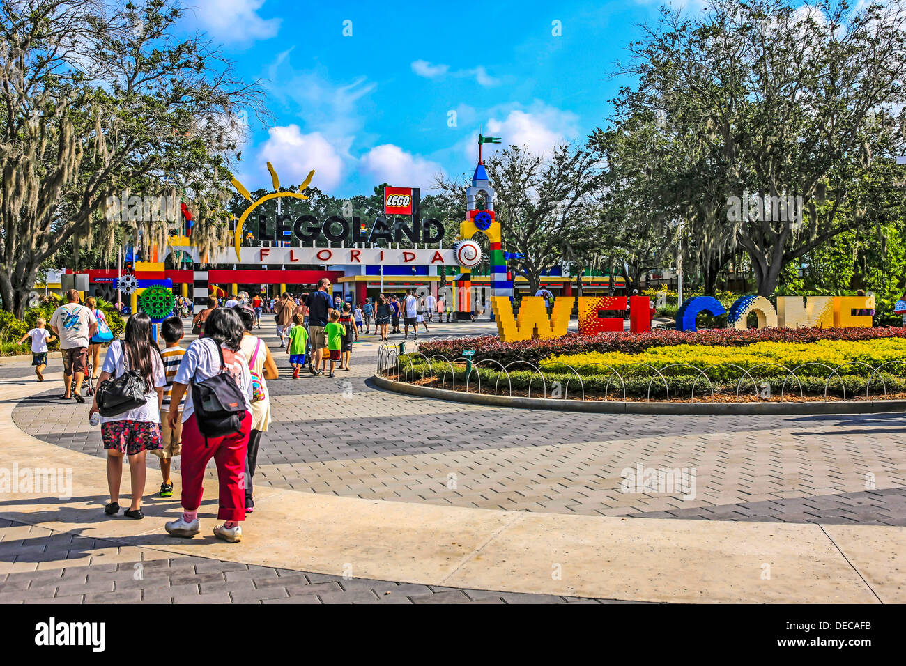 Entrance to Legoland Florida Stock Photo