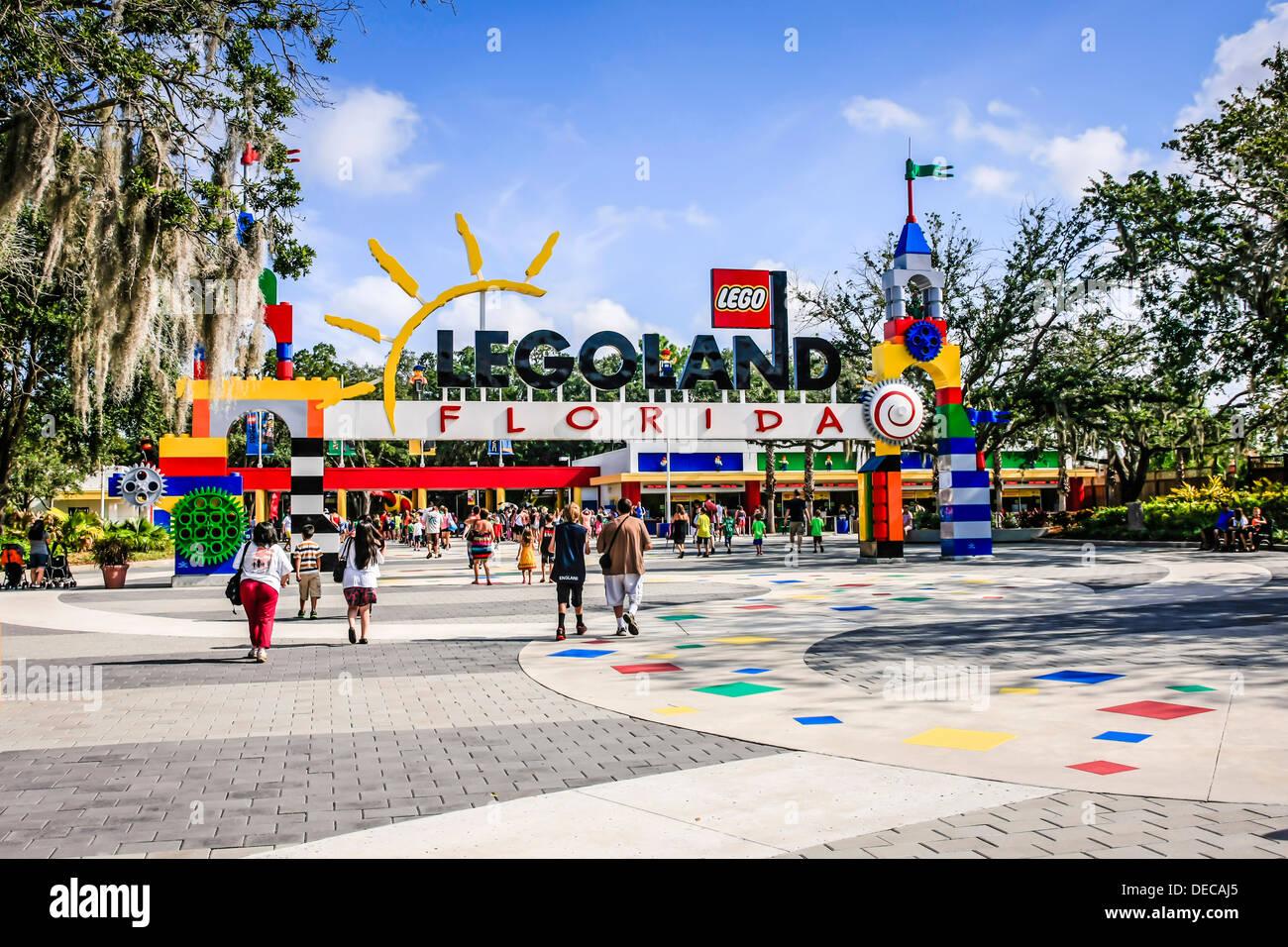 Entrance to Legoland Florida Stock Photo