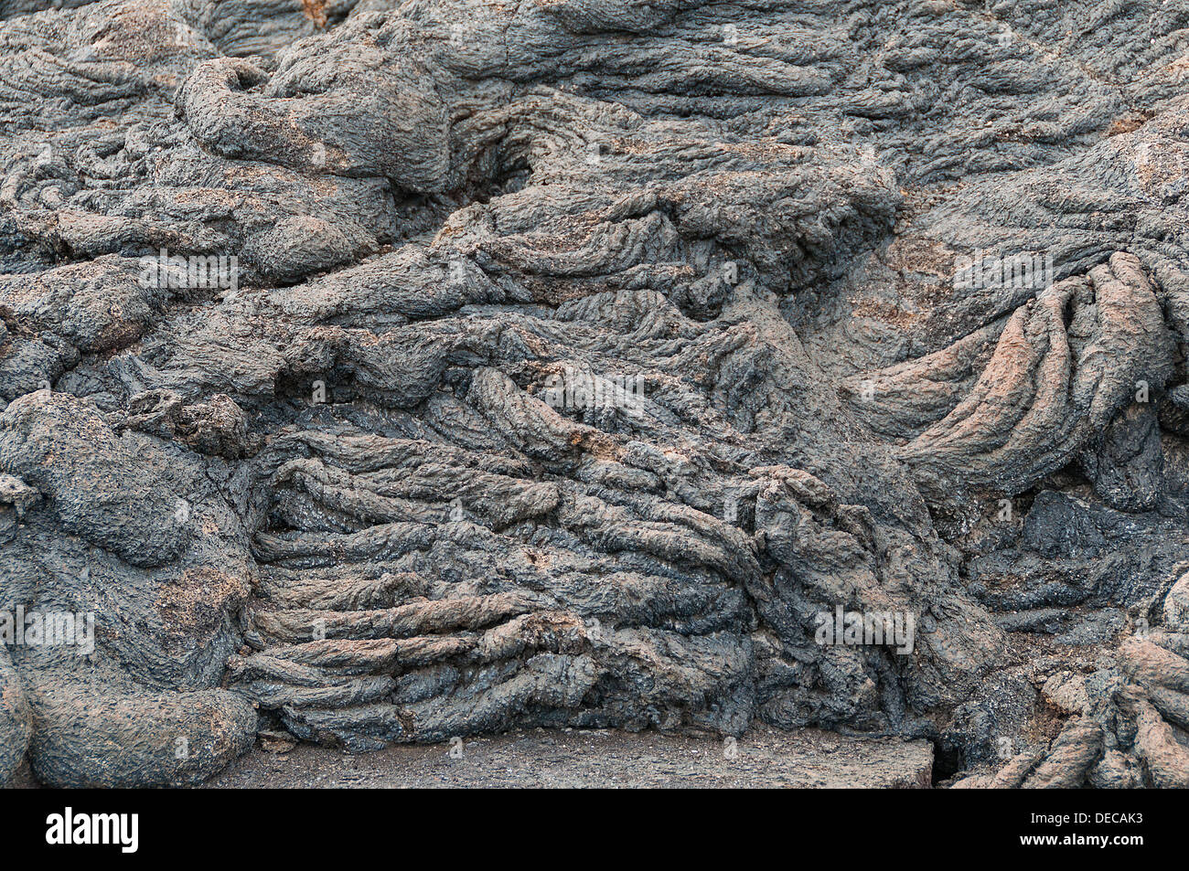 Close up of Pahoehoe Lava - Stock Image