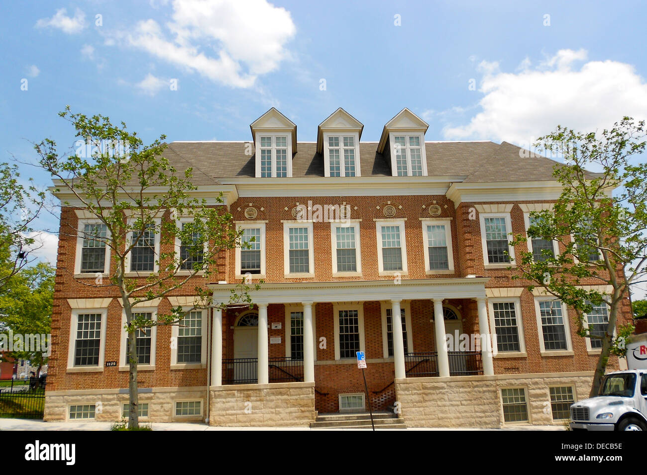 Public School No. 37 on the NRHP since September 25, 1979. At E. Biddle St. and N. Patterson Park Ave., in Baltimore, Maryland - Stock Image