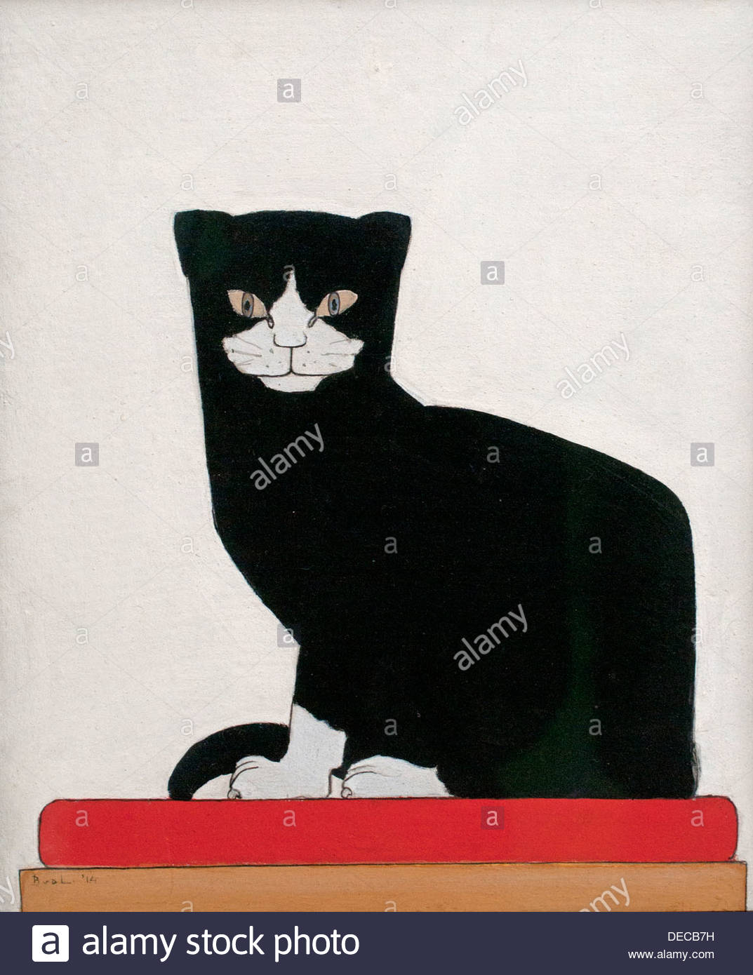 The Cat 1914 Bart van der Leck Dutch Painter The Netherlands - Stock Image