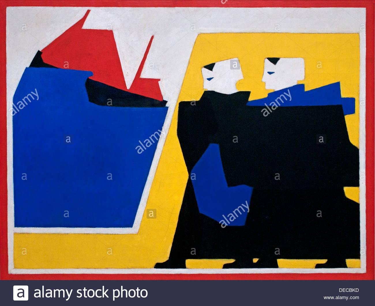 The Tempest - De Storm 1916 Bart van der Leck Dutch Painter The Netherlands - Stock Image