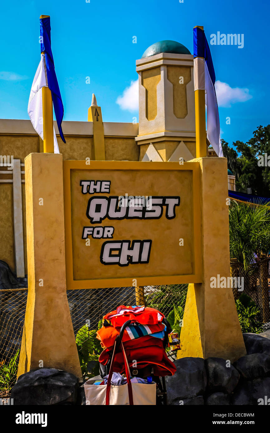 The Quest for Chi at the World of Chima ride at Legoland Florida Stock Photo