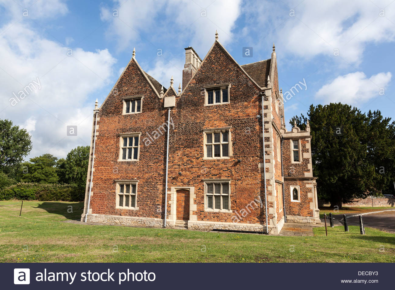 Red Hall, Grade II Listed Building in Bourne, Lincolnshire, England, UK - Stock Image